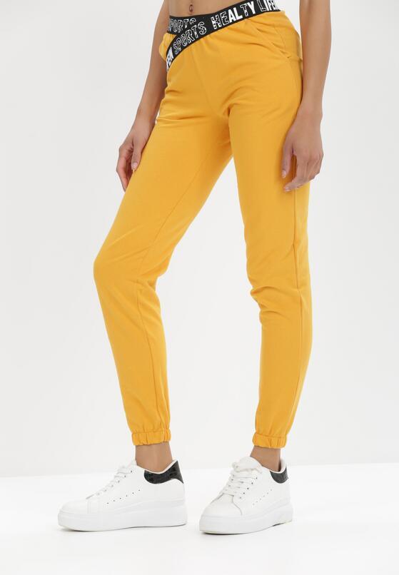 Żółte Spodnie Dresowe Adrasaia