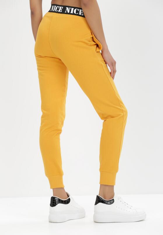 Żółte Spodnie Dresowe Isiphi