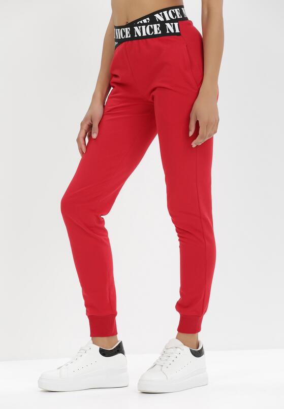 Czerwone Spodnie Dresowe Isiphi