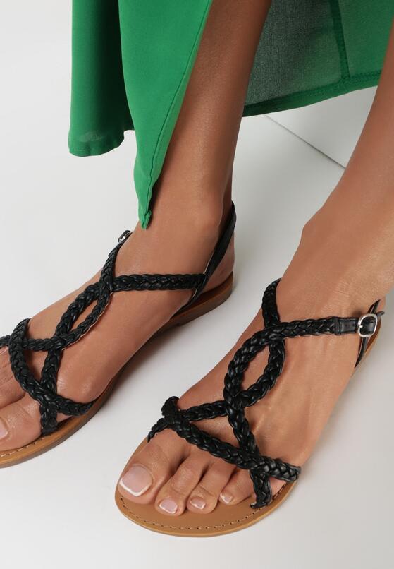Czarne Sandały Kisselphise