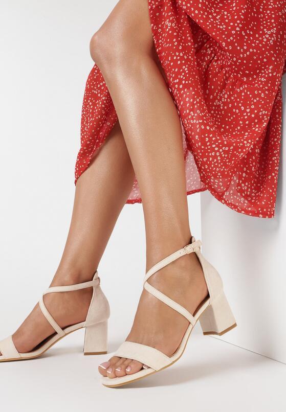 Beżowe Sandały Thespisha