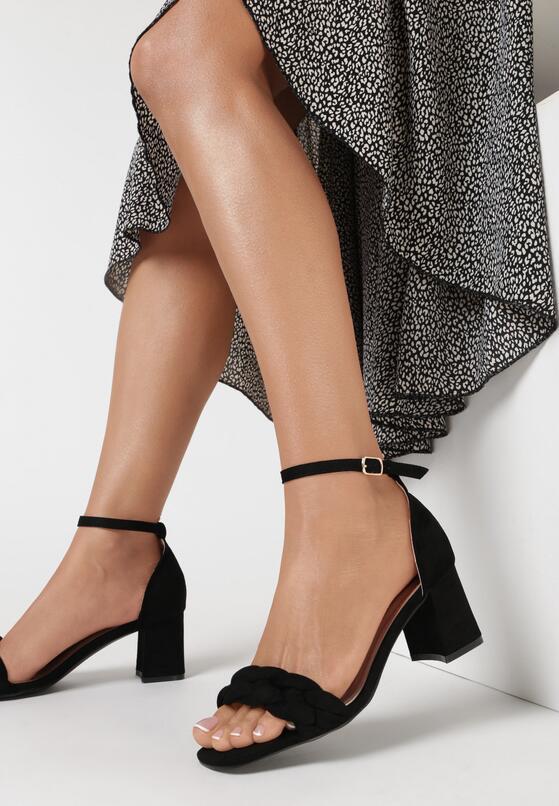 Czarne Sandały Arethosa