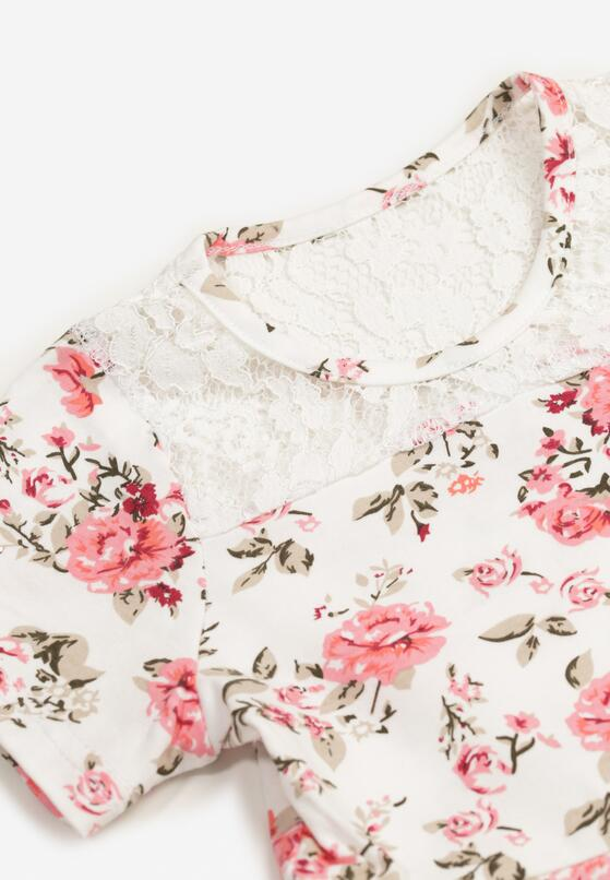 Biało-Różowa Sukienka Thalali