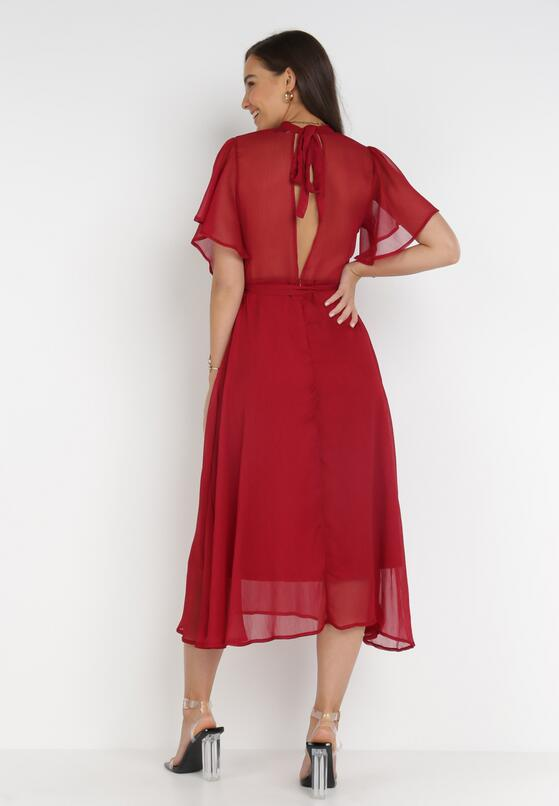Bordowa Sukienka Acsophia