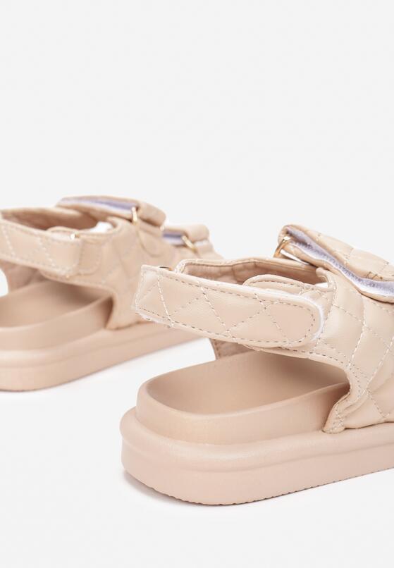 Ciemnobeżowe Sandały Sagite