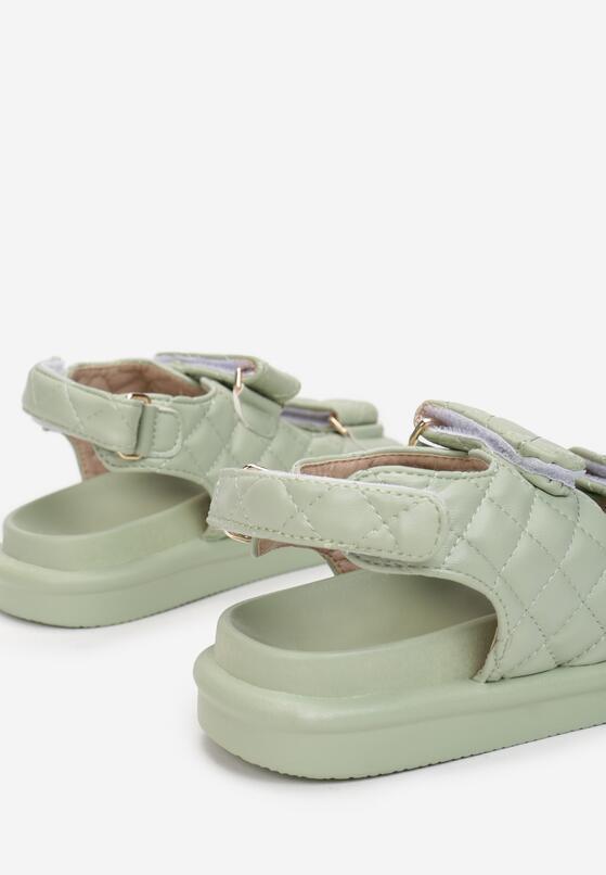 Miętowe Sandały Sagite