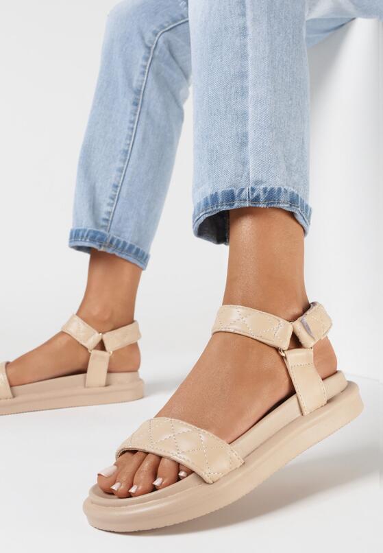 Ciemnobeżowe Sandały Brethosi