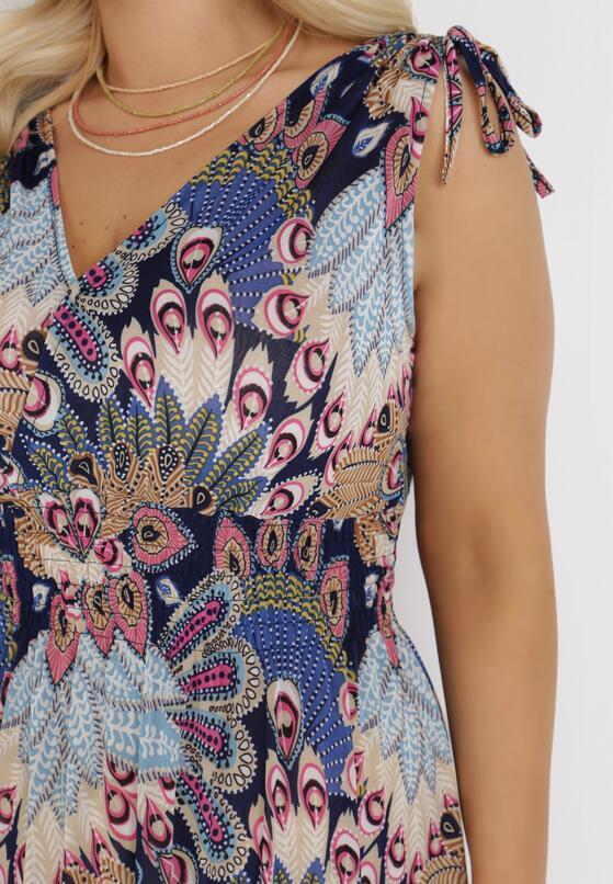 Granatowo-Niebieska Sukienka Acosaia