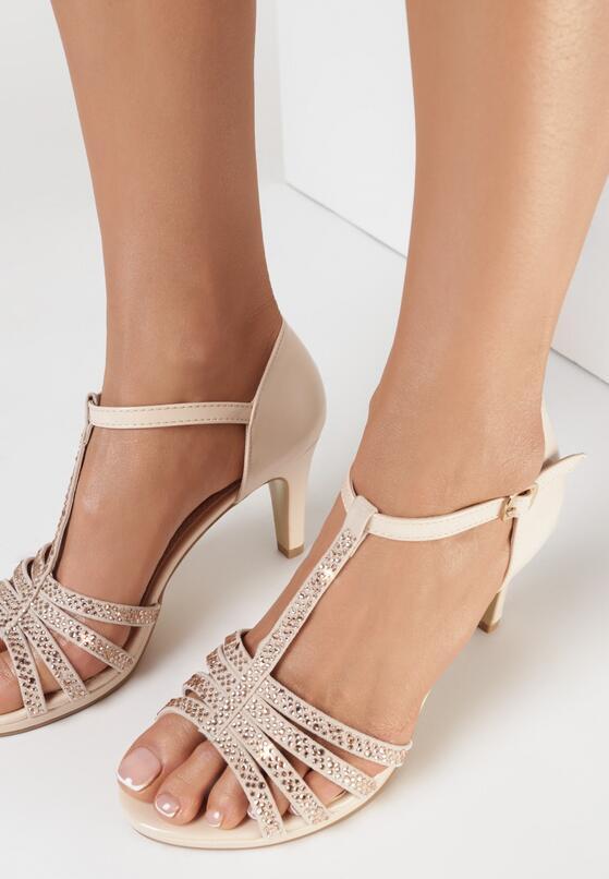 Beżowe Sandały Taphice