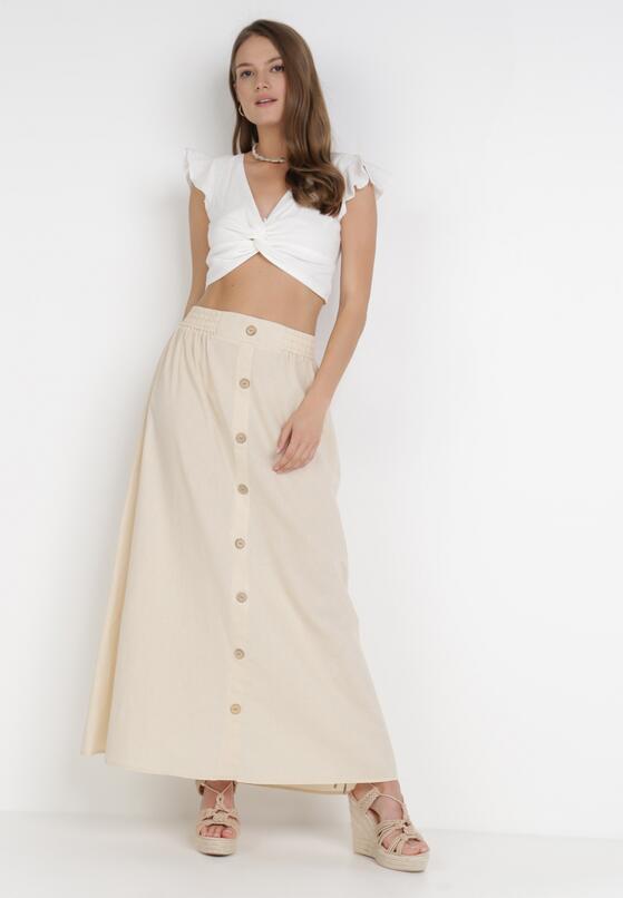 Kremowa Spódnica Kisalise