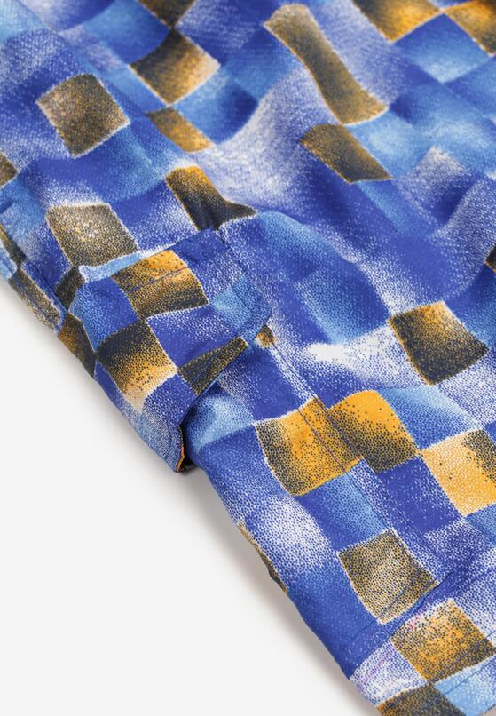 Niebiesko-Pomarańczowe Szorty Adrasahria