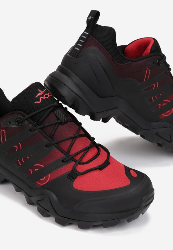 Czarno-Czerwone Buty Trekkingowe Tharasothius
