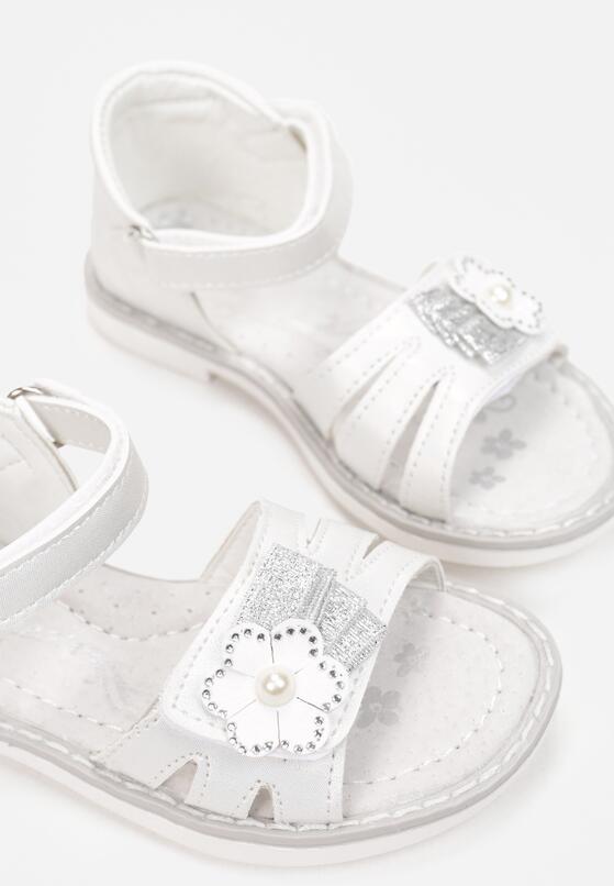 Białe Sandały Parthastos