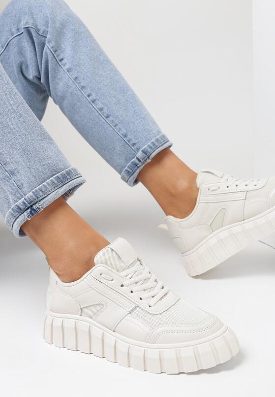 Beżowe Sneakersy Peisis