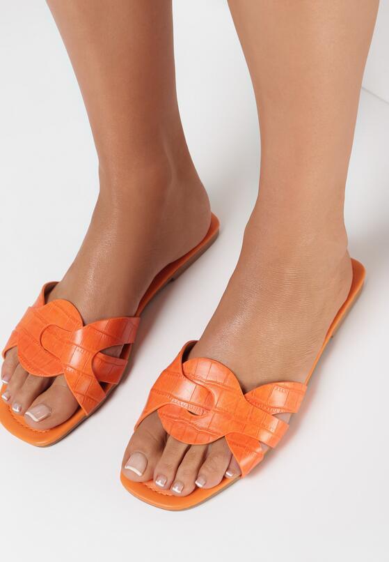 Pomarańczowe Klapki Nisetheus
