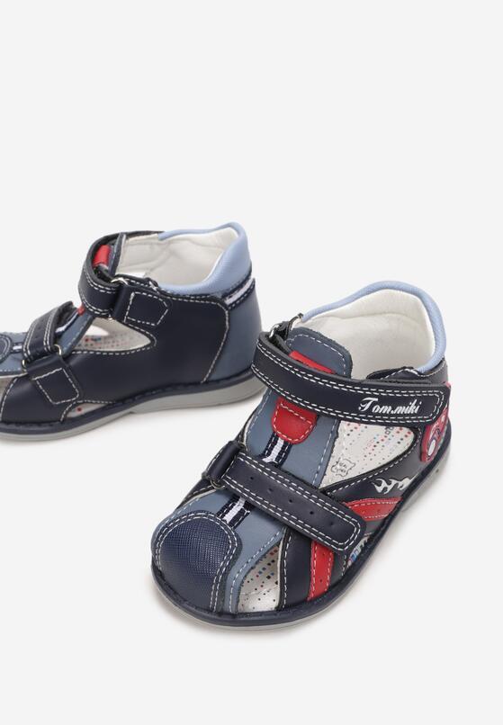 Granatowe Sandały Azena