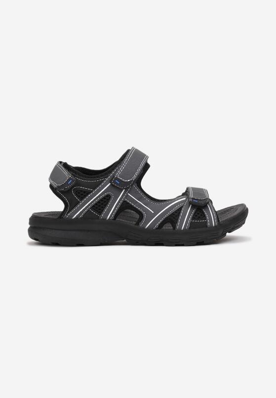 Szaro-Czarne Sandały Orimis