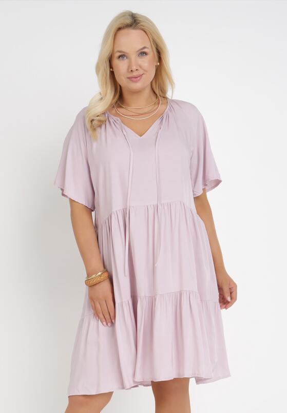 Liliowa Sukienka Amphas