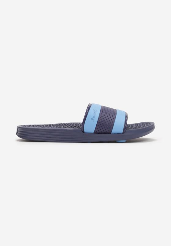 Granatowo-Niebieskie Klapki Thaddous