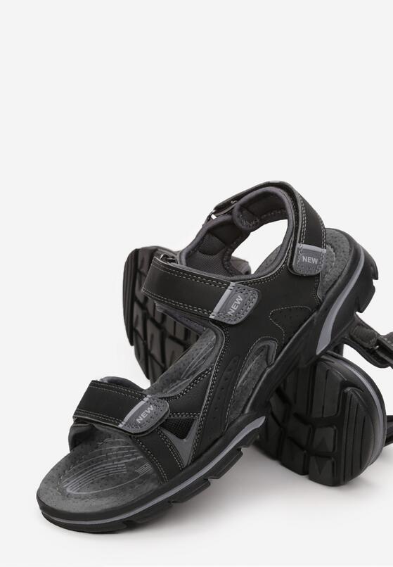 Czarne Sandały Tudurenn