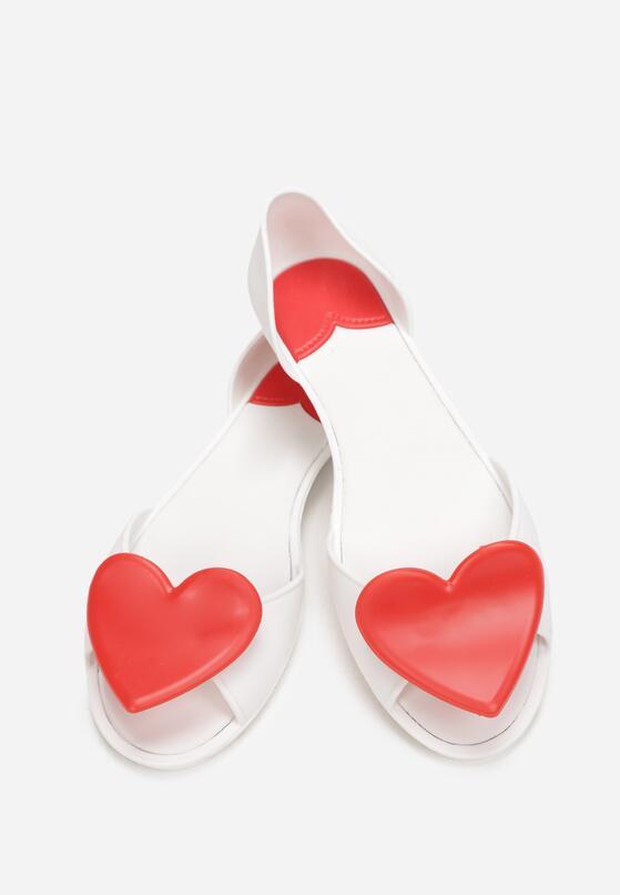 Biało-Czerwone Balerinki Sarro