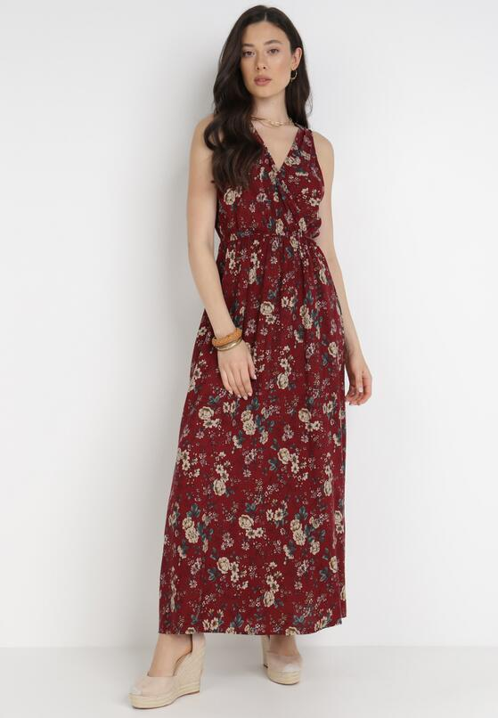 Bordowa Sukienka Bered