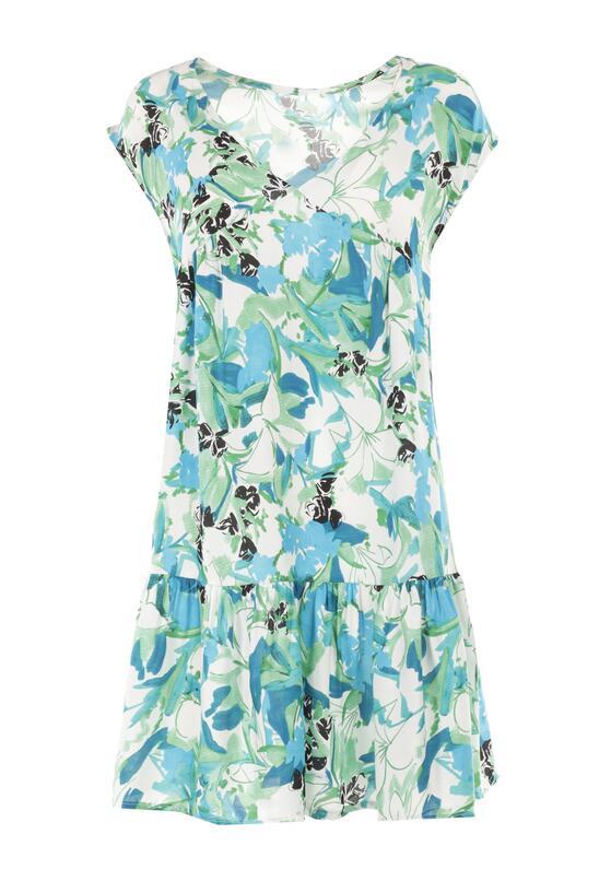 Biało-Niebieska Sukienka Kimothusa