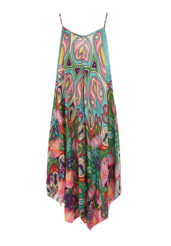 Zielona Sukienka Struana
