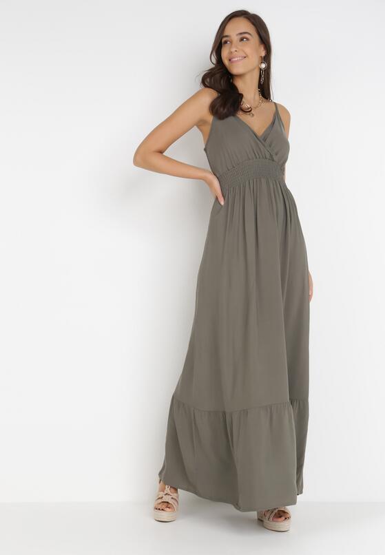 Ciemnozielona Sukienka Neamedora