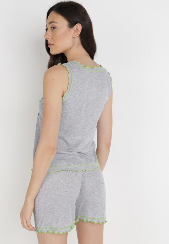 Szaro-Zielony 2-Częściowy Komplet Piżamowy Zhamora
