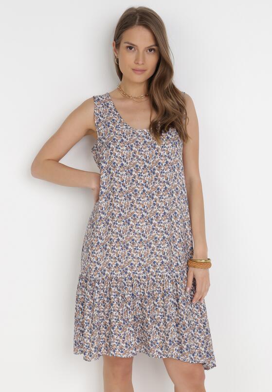 Biało-Niebieska Sukienka Sthyva