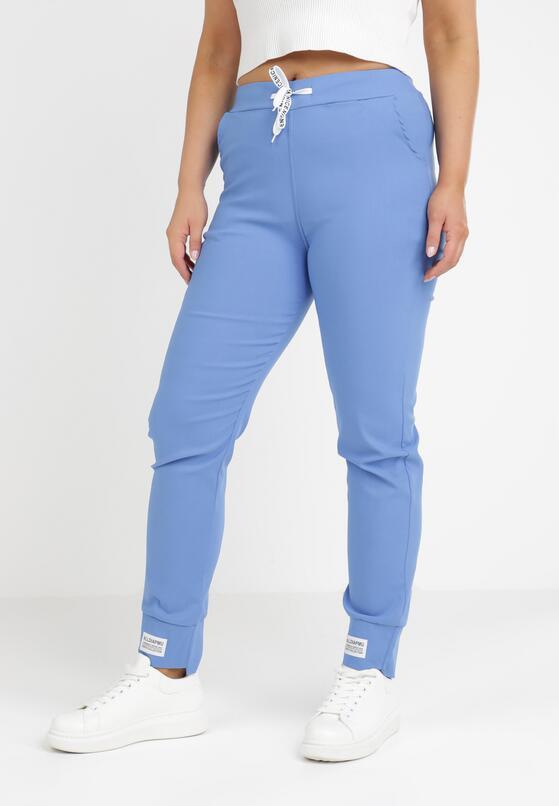 Niebieskie Spodnie Dresowe Trifana