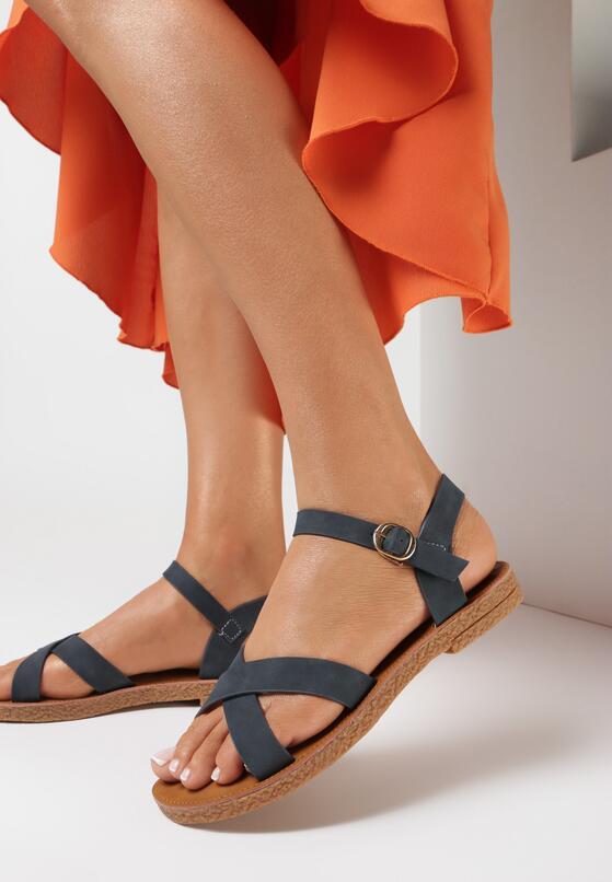 Granatowe Sandały Malinea