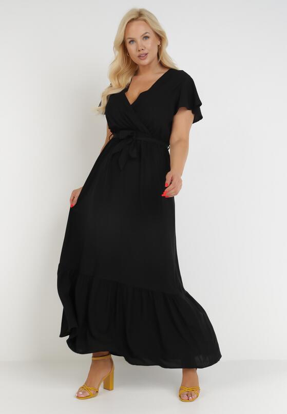 Czarna Sukienka Gyimanum