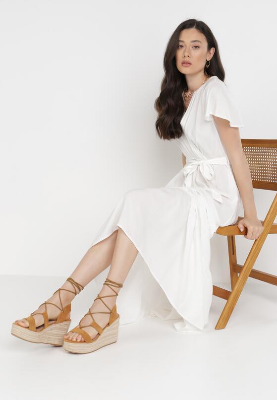 Biała Sukienka Gyimanum