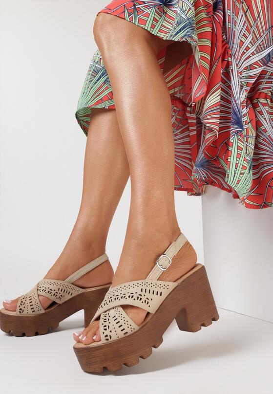 Beżowe Sandały Asinara