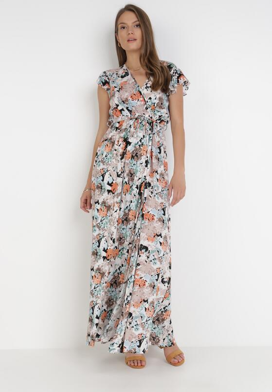 Beżowa Sukienka Poreilira