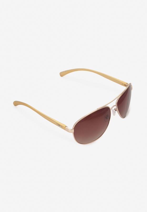 Ciemnobeżowe Okulary Przeciwsłoneczne Venelig