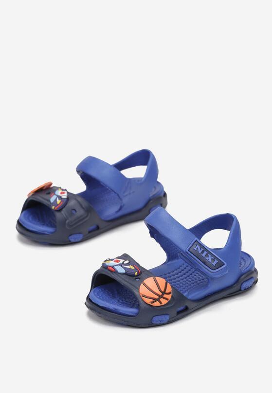 Granatowo-Niebieskie Sandały Maodennig