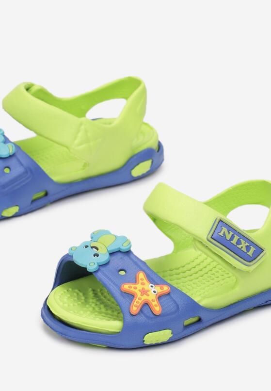 Niebiesko-Zielone Sandały Maodennig
