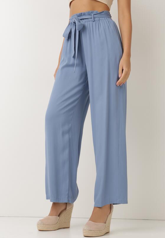 Niebieskie Spodnie Szerokie Pheriko