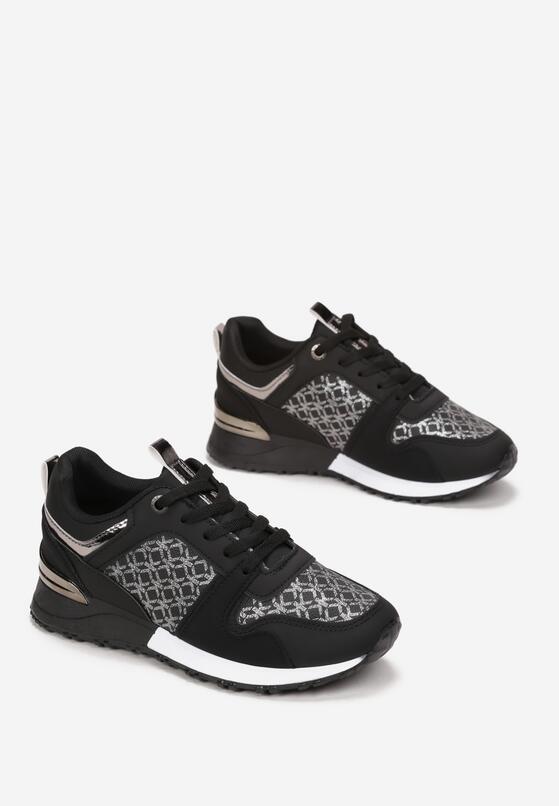 Czarne Sneakersy Raenora