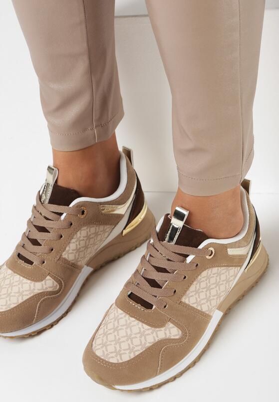 Ciemnobeżowe Sneakersy Raenora