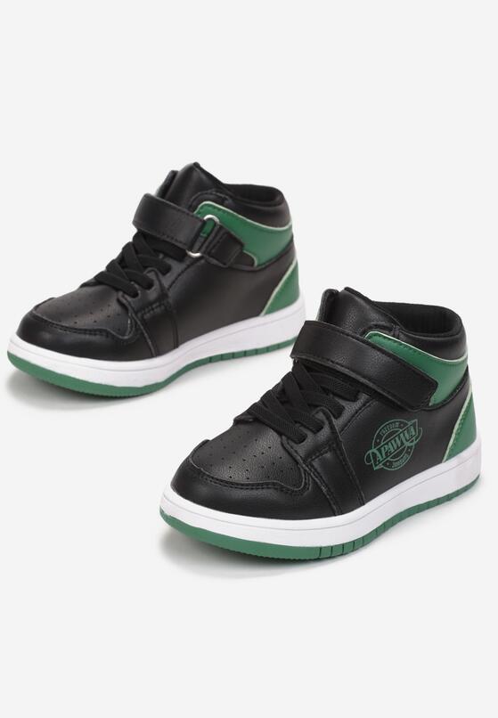 Czarno-Zielone Buty Sportowe Psalalise