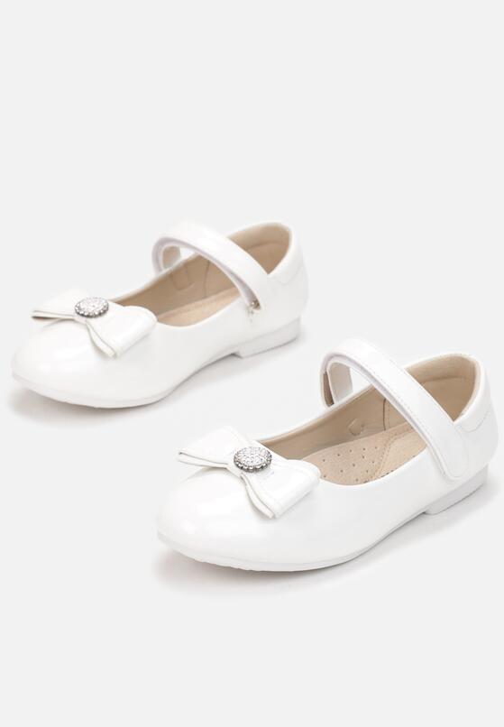 Białe Balerinki Karenor