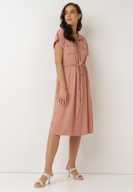 Ciemnoróżowa Sukienka Savareilla