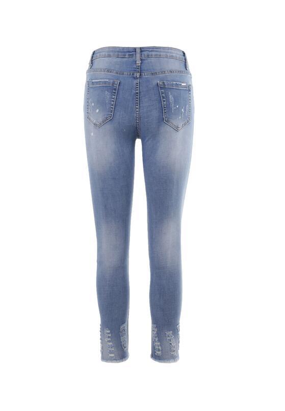 Niebieskie Jeansy Skinny Aurulenn