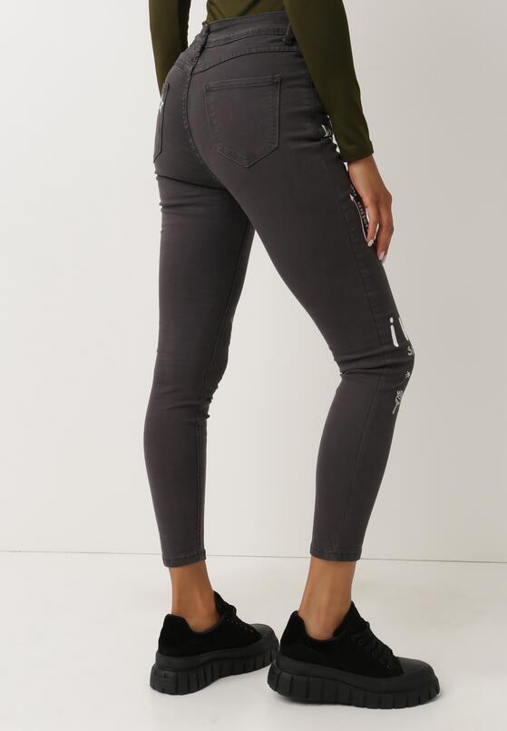 Ciemnoszare Spodnie Skinny Oumorna