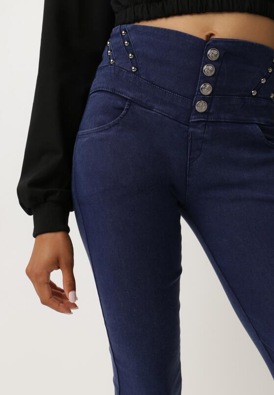 Granatowe Spodnie Manik
