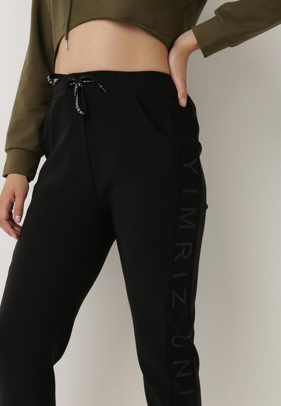 Czarne Spodnie Dresowe Ywetel